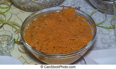 Delicious food in a nice bowl on a table - Dish with fresh...