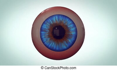 """Abstract eyeball with red veins"" - ""Abstract eyeball with..."