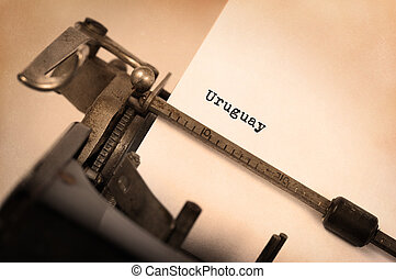 Old typewriter - Uruguay - Inscription made by vintage...