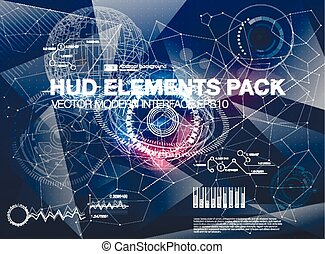 Infographic elements. futuristic user interface HUD UI UX....