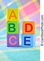 木制, 字母表, 玩具, 塊