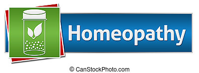 Homeopathy Red Green Blue Horizontal - Homeopathy concept...