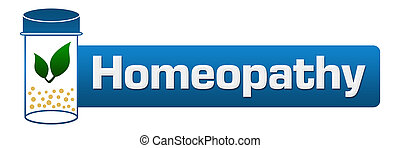 Homeopathy Medicine Bottle - Homeopathy concept image with...