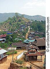 Mountain village, Shan state, Myanmar - Trekking, Mountain...