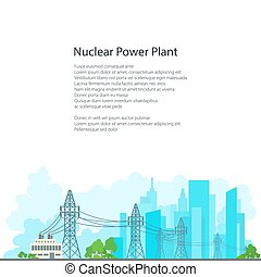 Poster Electric Power Transmission - High Voltage Power...