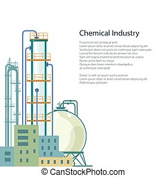Chemical Plant Isolated and Text - Chemical Plant Isolated...