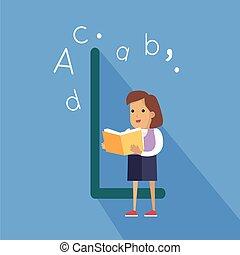 Ciencia,  -,  H, carta, alfabeto