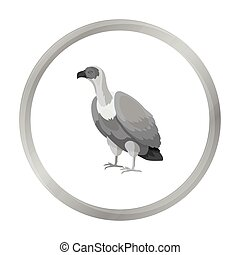 Vulture icon in monochrome style isolated on white background. Bird symbol stock vector illustration.