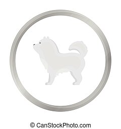 Chow-chow vector icon in monochrome style for web -...