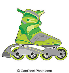 isolated roller skates - fully editable vector illustration...