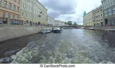 Pleasure boats in marina - RUSSIA, SAINT PETERSBURG, JULY,...