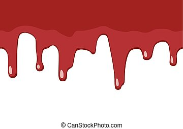 Dripping blood seamless border. Repeatable illustration of...