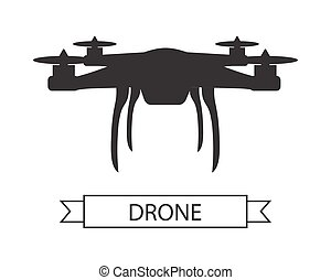Drone Icon Isolated Unmanned Aerial Vehicle - Drone icon...