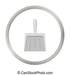 Dustpan monochrome icon. Illustration for web and mobile...