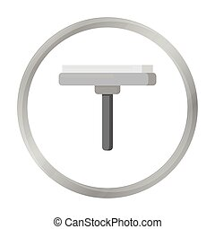 Squeegee monochrome icon. Illustration for web and mobile...