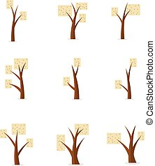 vector illustration of tree style unique