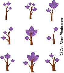 Set of tree unique design vector