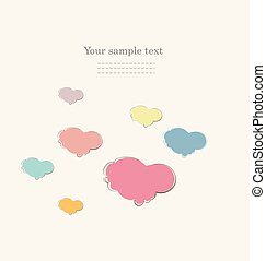 Vintage scrap booking template for Valentine's Day, party,...