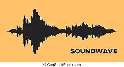 Soundwave Diagram. recording. - Soundwave Diagram