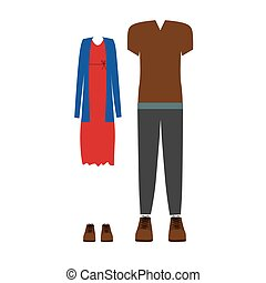 Clothes for womens and mens icon vector illustration graphic...