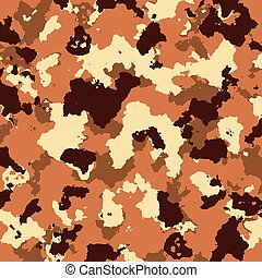 vector military camouflage pattern in brown colors