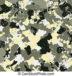 vector military camouflage pattern in green colors