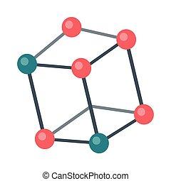 Molecular Structure Illustration in Flat Design