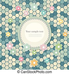 Vintage colorful scrap booking template for kid party,...
