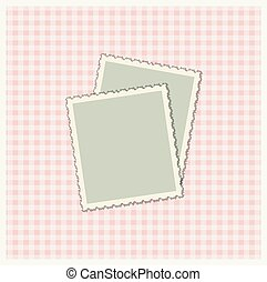 Vintage colorful scrap booking template for kid, child, baby...
