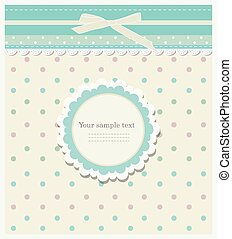 Romantic scrap booking template for invitation, greeting,...