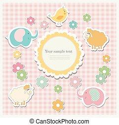 Romantic scrap booking template for invitation
