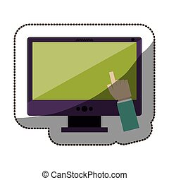 Touch screen technology icon vector illustration graphic...