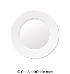 vector illustration of empty white plate