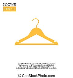 vector flat design icon of clothing hanger