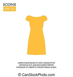 vector illustration of dress flat design icon
