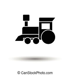 Train toy ico. White background with shadow design. Vector...