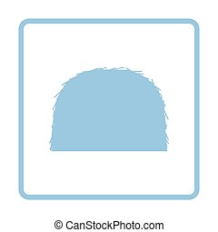 Hay stack icon. Blue frame design. Vector illustration.
