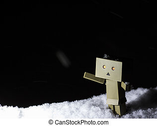 Danbo is outside at winter