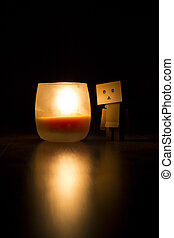 Danbo with a candle