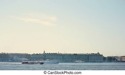 Passenger ship in the city - Passenger ship in the...