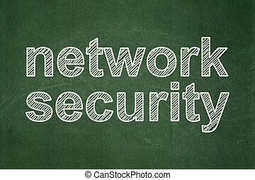 Safety concept: Network Security on chalkboard background