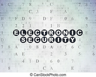Security concept: Electronic Security on Digital Data Paper...