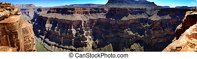 People at the North Rim of Grand Canyon Gorge