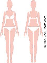 Female body in full length measurement.eps - Female body in...