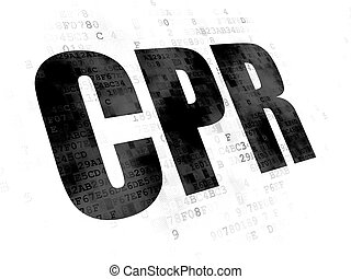 Health concept: CPR on Digital background - Health concept:...