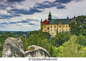 The chateau rough rock / Czech Republic - View of the...