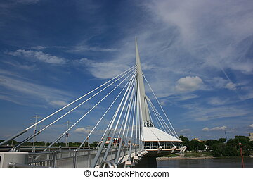Esplanade Riel - Riel walkway spaning the Red River in...