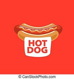 vector logo hot dog - logo design pattern hot dog. Vector...