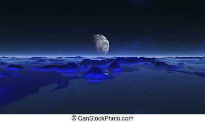 Alien Planet Reflected In Water