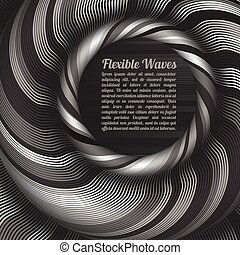 Abstract vector background, waved lines vector illustration...